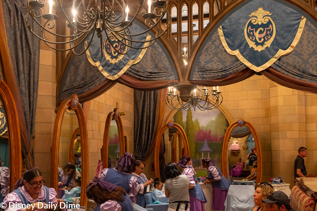 The makeover area of Bibbidi Bobbidi Boutique.