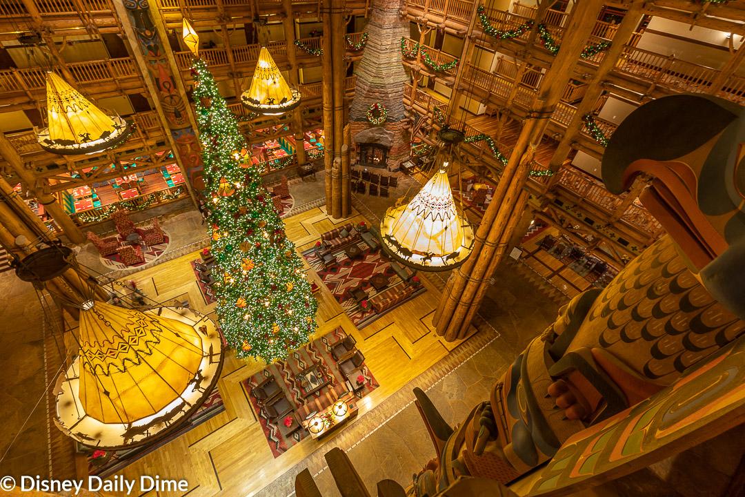 Wilderness Lodge at Christmas | Disney