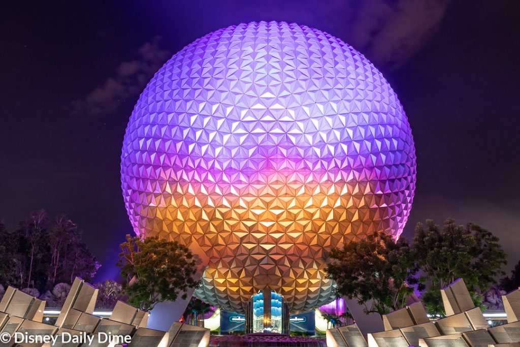 Picture of Spaceship Earth at Epcot.