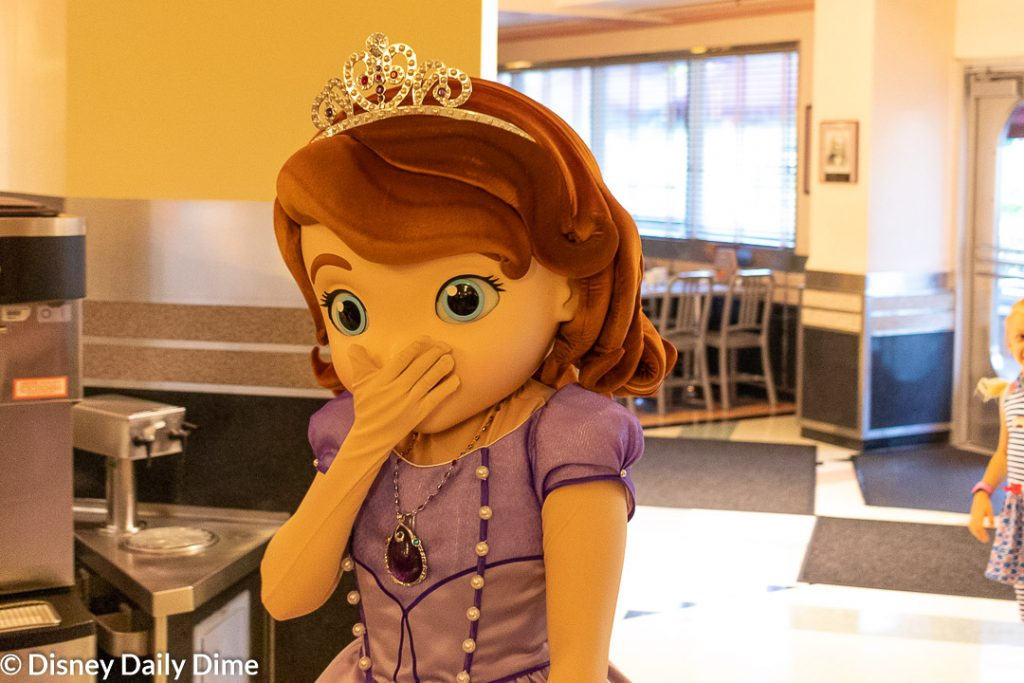 Picture of Sofia the First from the Disney Junior Play 'n Dine at Hollywood & Vine.