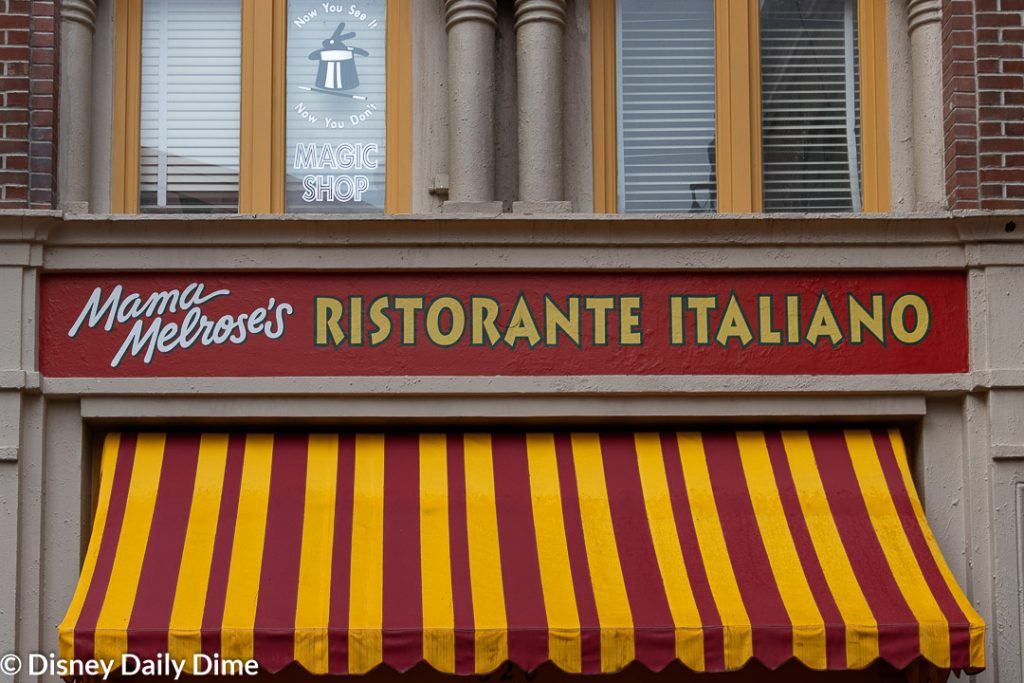 Picture of the exterior of Mama Melrose's Ristorante Italiano.