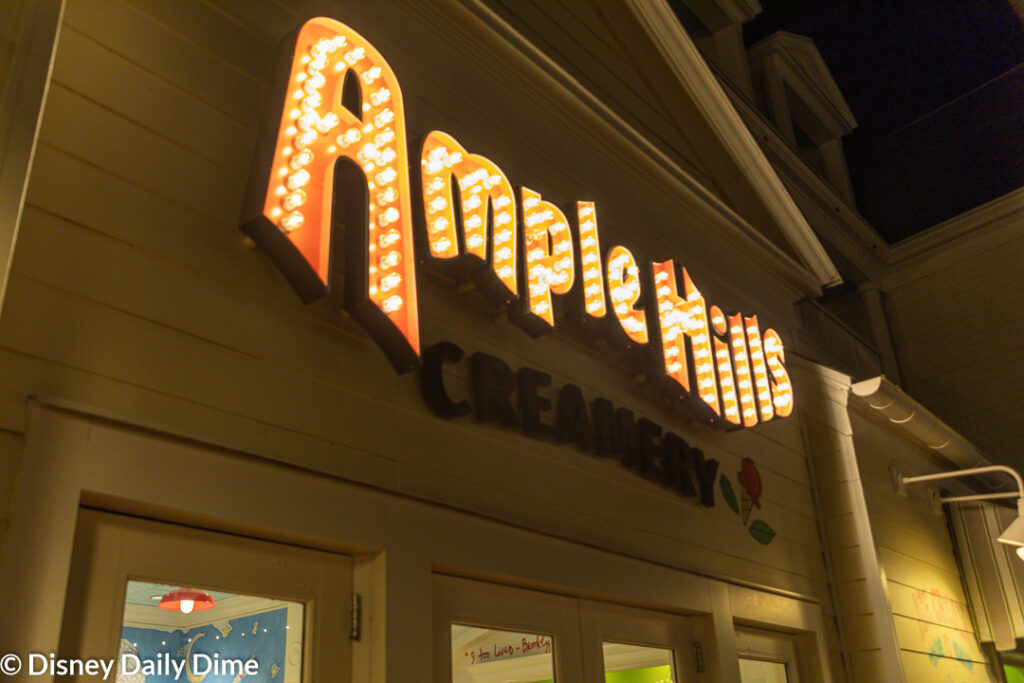 Ample Hills Creamery is a fun little ice cream shop nestled on the BoardWalk of Disney World's Crescent Lake.