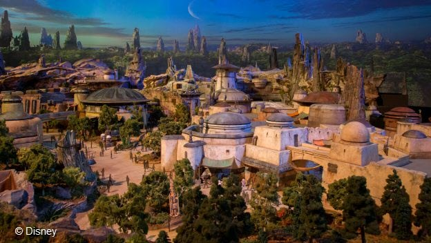 Concept are of Batuu, the setting of Galaxy's Edge.