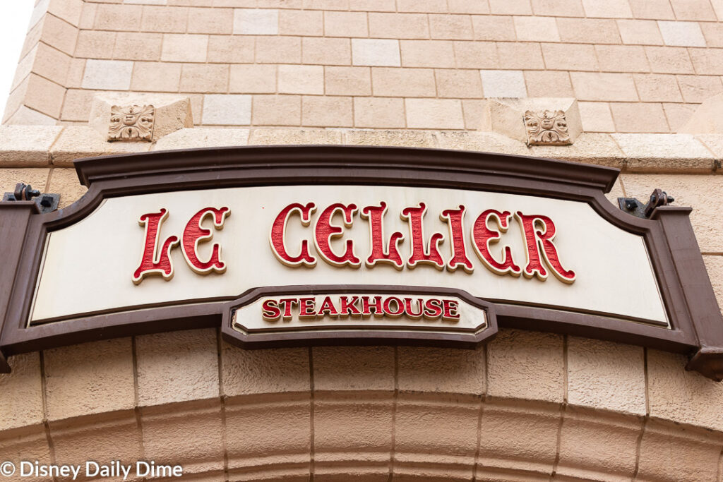 Picture of the Le Cellier entrance sign.
