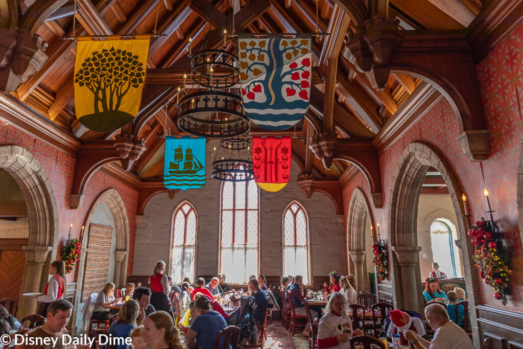 Picture of the main dining area at Akershus Royal Banquet Hall