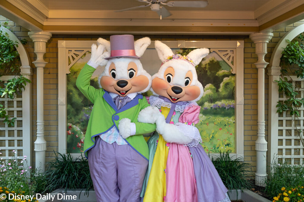 Here you can see Mr. and Mrs. Easter Bunny at Disney World.