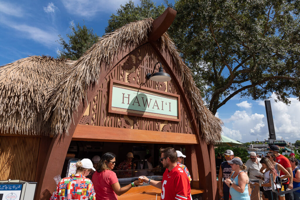 Our Hawai'i review focuses on a favorite booth of the Food & Wine Festival.