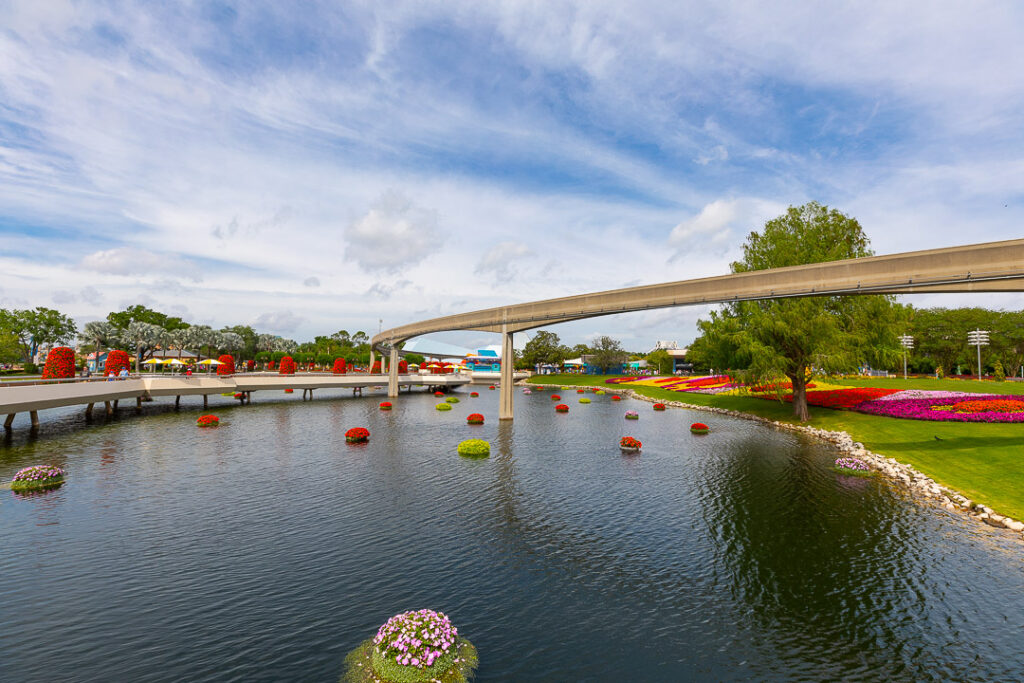 Duringt he Epcot Flower & Garden Festival you'll find beautiful flower displays along with food options and other fun things to do!