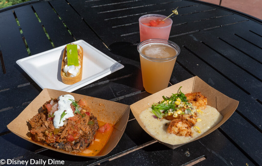 Our Florida Fresh review covers all the food and some drinks from this year's Epcot Flower & Garden Festival.