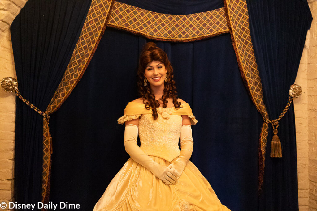 When you stop by the Akershus breakfast, you'll have a photo op with Belle before you are seated.