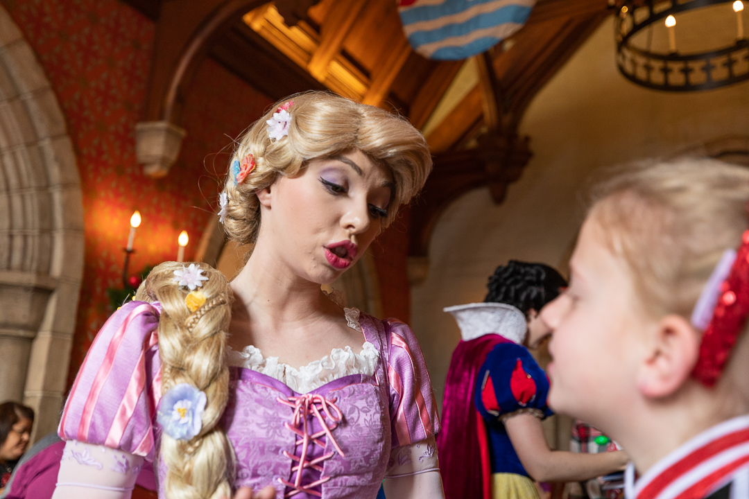 In total, you can meet five princesses at the Akershus breakfast.