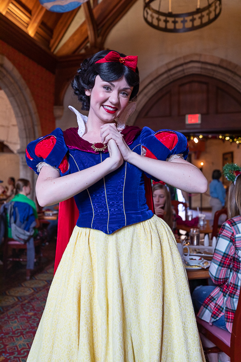 Snow White is one of the princesses on the regular rotation for the Akershus Royal Banquet Hall breakfast.