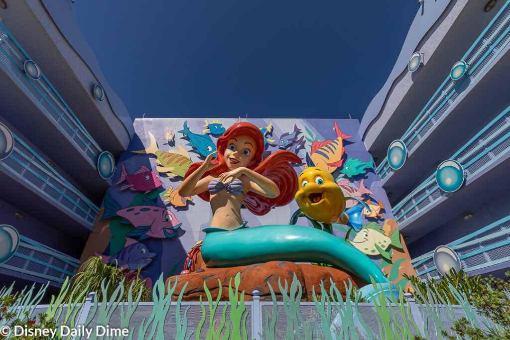 The statues include ones like this picture shows of Ariel.