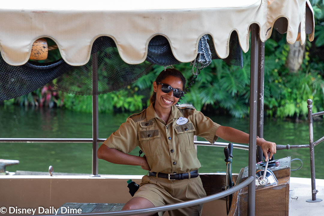 This is one of the boat captains of the Jungle Cruise in Adventureland.