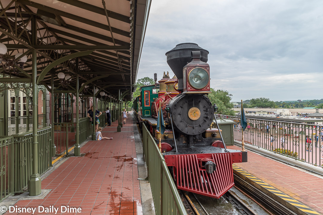The trains are even named after Walt, his wfie, and brother.